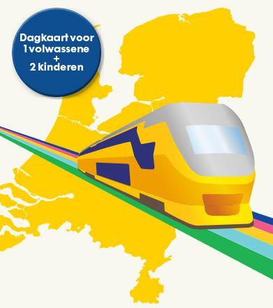 NS Dagkaart (1 volwassene en 2 kinderen) voor €17,50 @ HEMA