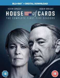 House of Cards S1 t/m S5 blu-ray + digitaal