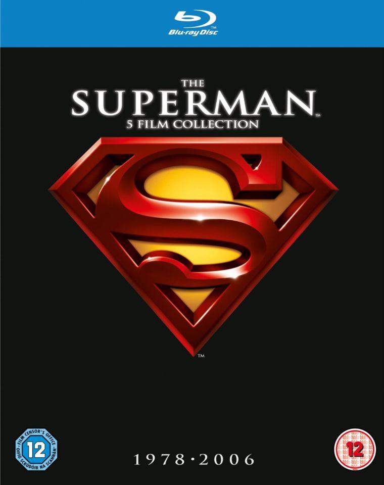Superman films 1-5 op blu-ray bij Zavvi!