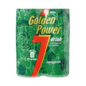 4-packs Golden Power voor €0,99