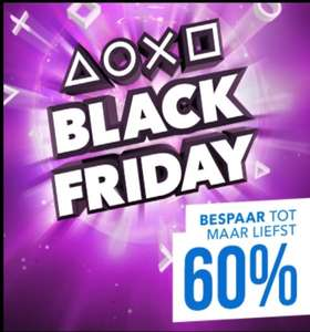 Black Friday sale in de Playstation PS Store @PSN tot -60%