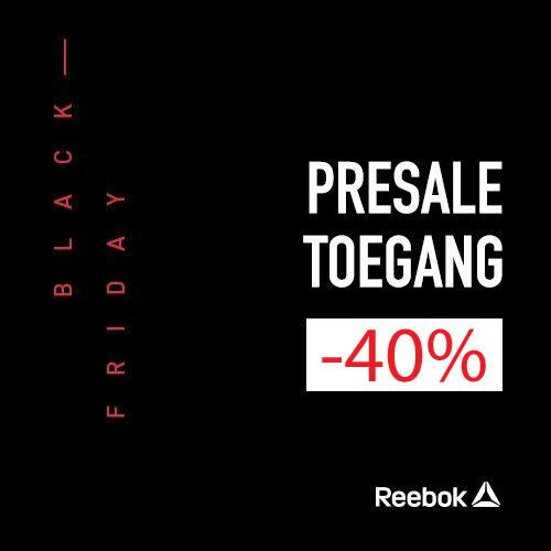 Cyber Monday/ Black Friday: 40% korting op alles - óók op outlet @ Reebok
