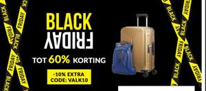 Samsonite Black Friday deals met code VALK10 10% extra korting