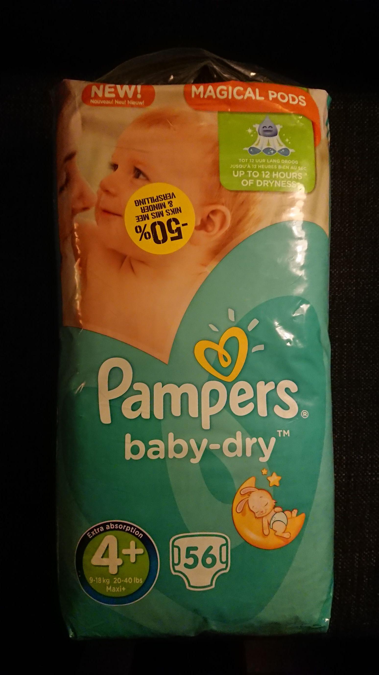 Coop (lokaal) opruiming.50% op pampers baby dry.