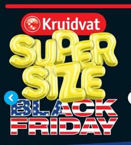 Super size Black Friday bij Kruidvat