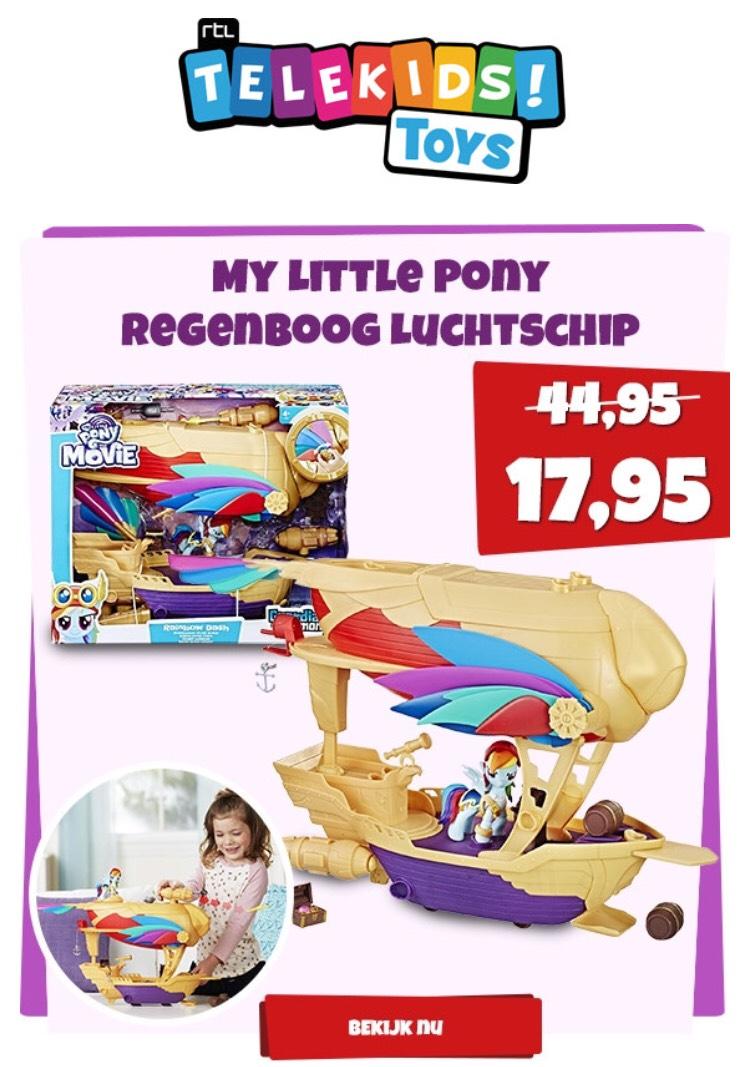 My Little Pony Regenboog Luchtschip van €45 voor €18