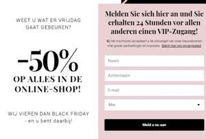 Black Friday 50% korting @ Bonaparte