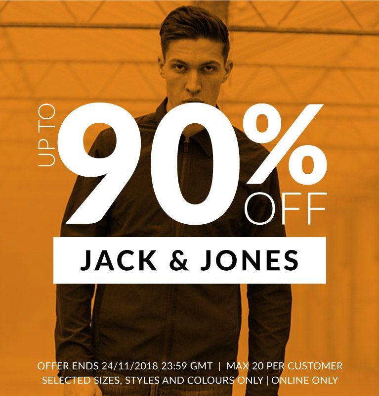 Tot 90 procent korting op jack&Jones