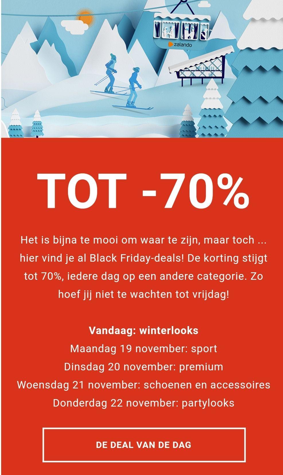 [Black Friday] Veel sale tot 70% korting @ Zalando