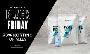 (Black Friday) - 38% + 8-14% cashback @ MyProtein