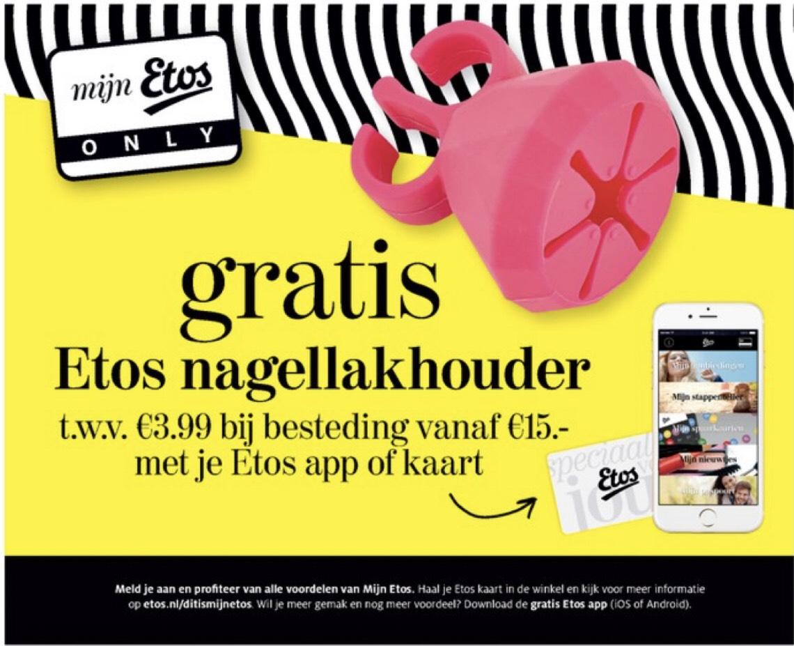 Gratis nagellakhouder bij besteding van €15 @Etos