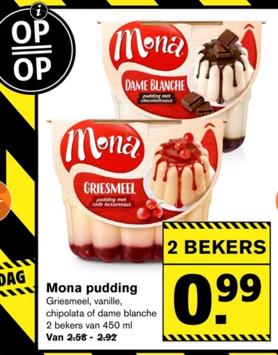 [Black Friday] Mona Pudding 2 stuks voor €0,99 @Hoogvliet