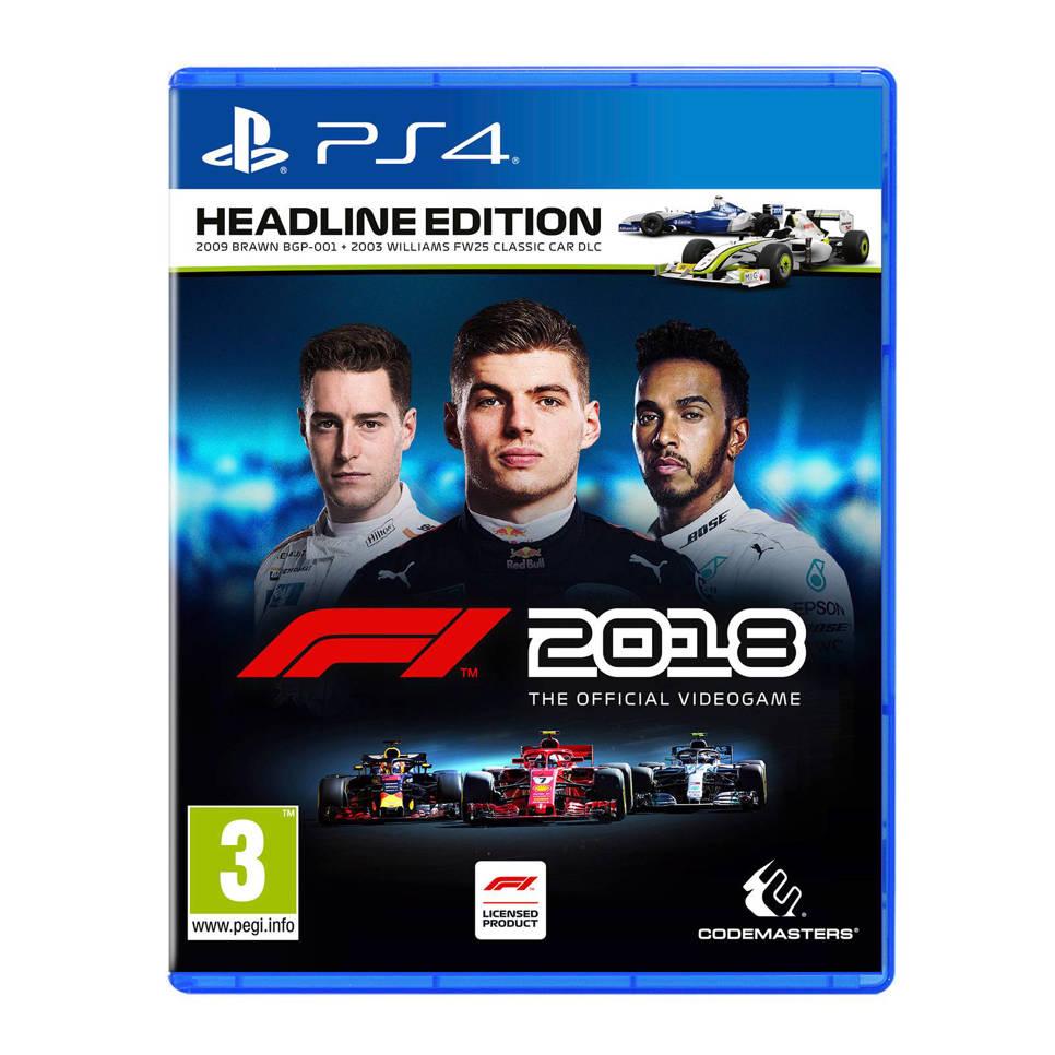 F1 2018 Headline edition (PS4/PC) voor €24,95 @ Wehkamp