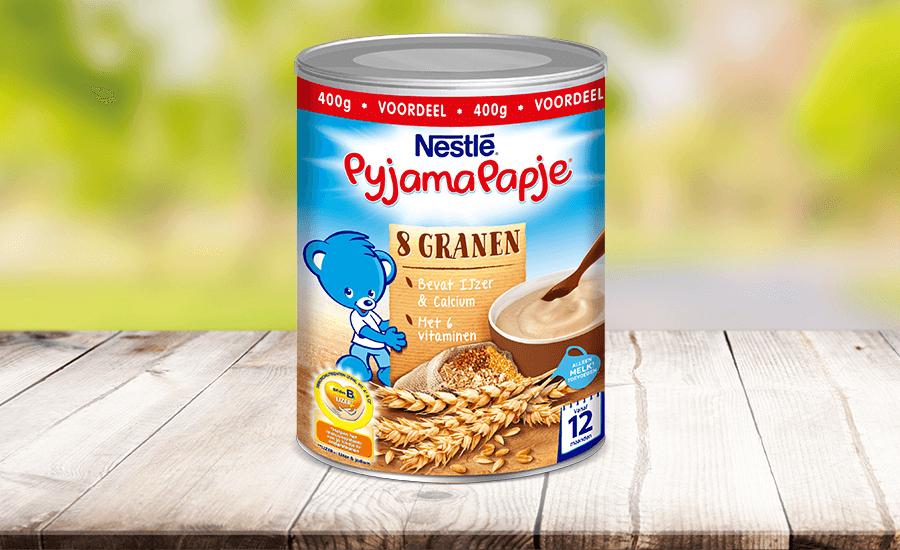 Probeer Nestlé PyjamaPapje® 5 of 8 granen nu voor €1,- ipv €2,99 via online Scoupy