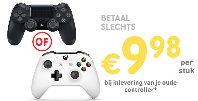 Inruilactie PS4 DualShock 4 & Xbox One controller @ Game mania €9,98