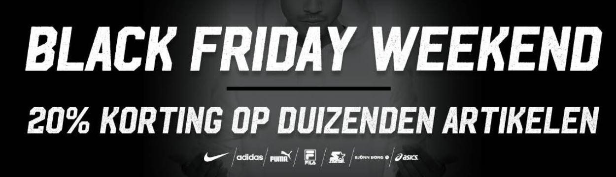 Black Friday: alles 20% korting @ Aktiesport
