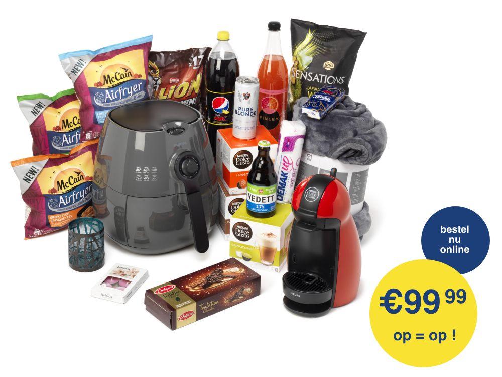 [Grensdeal België] box met Philips airfryer, Dolce gusto en meer voor €99,99