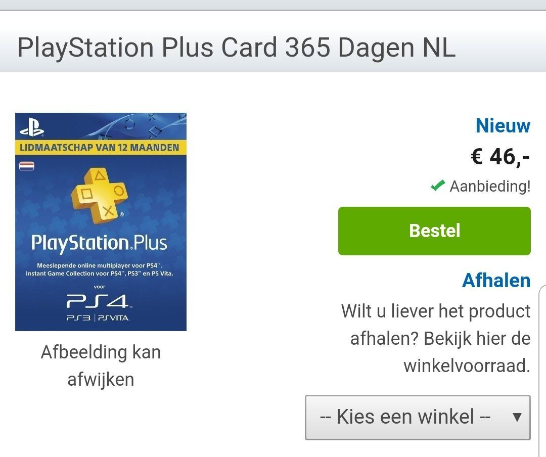 PlayStation Plus - 365 Dagen