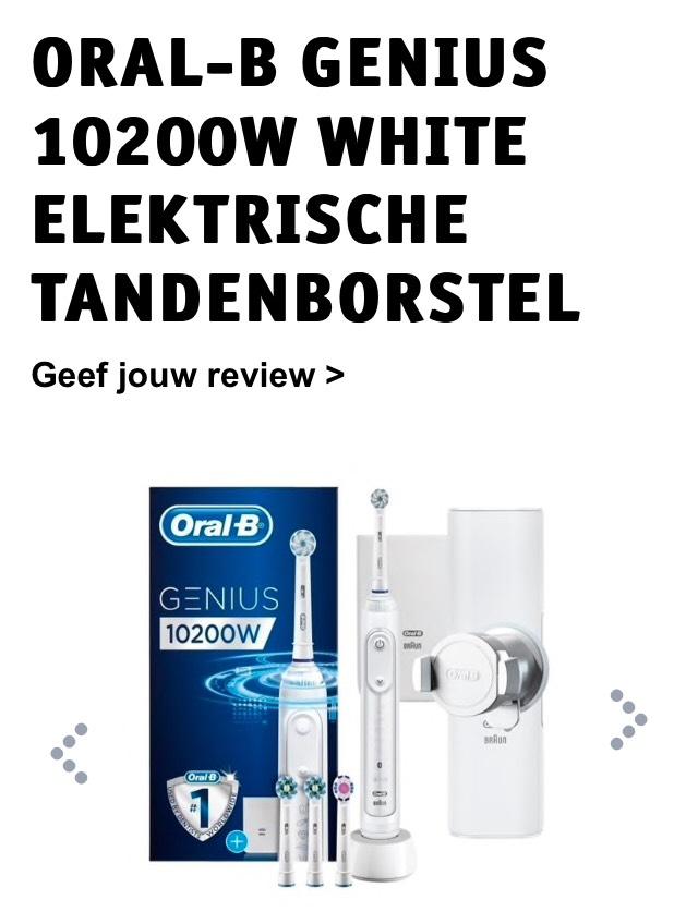 ORAL-B Genius 10200 elektrische tandenborstel voor €99,95 in de witte of zwarte editie.
