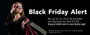 Syntus-dagkaart voor bus en trein (Black Friday t/m Cyber Monday)