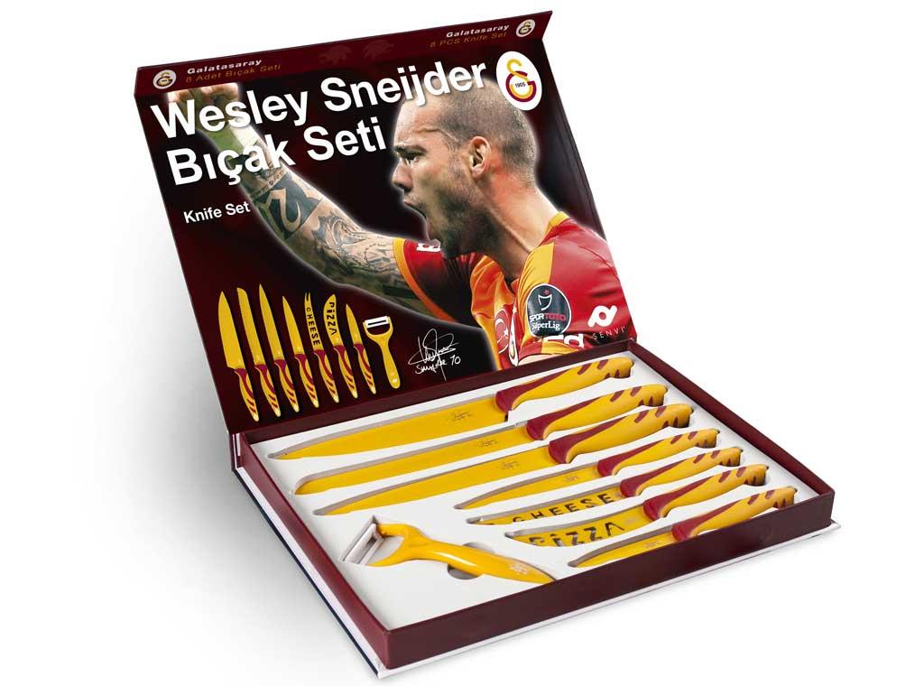 Wesley Sneijder 8 delige messenset voor € 27,75 @ Senvi