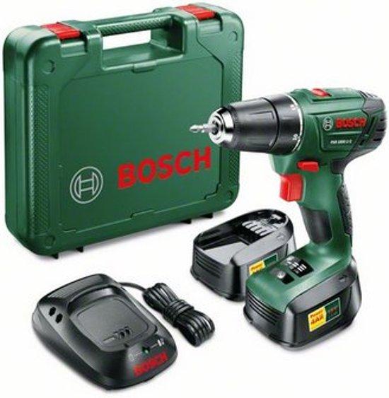 Bosch PSR 1800 LI-2 accuboormachine – 18 V accu (2 stuks) – 1- uurslader