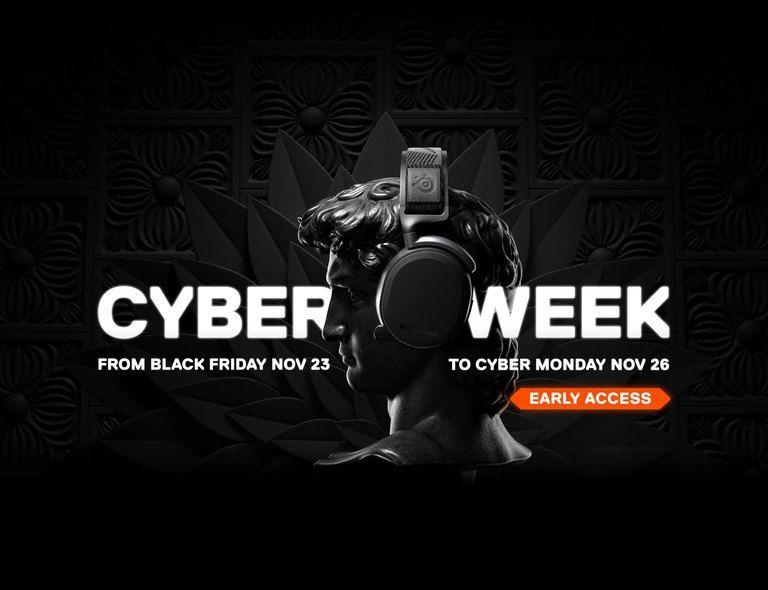 Black Friday/ Cyber week @Steelseries Korting op game muizen headsets en meer