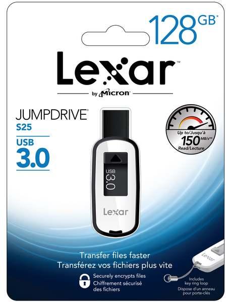 Lexar 128GB JumpDrive S25 3.0 USB Stick voor €34,99 @ Mymemory