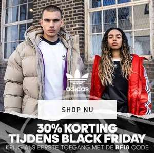 Black Friday: 30% korting (ook op outlet) + gratis verzending @ adidas
