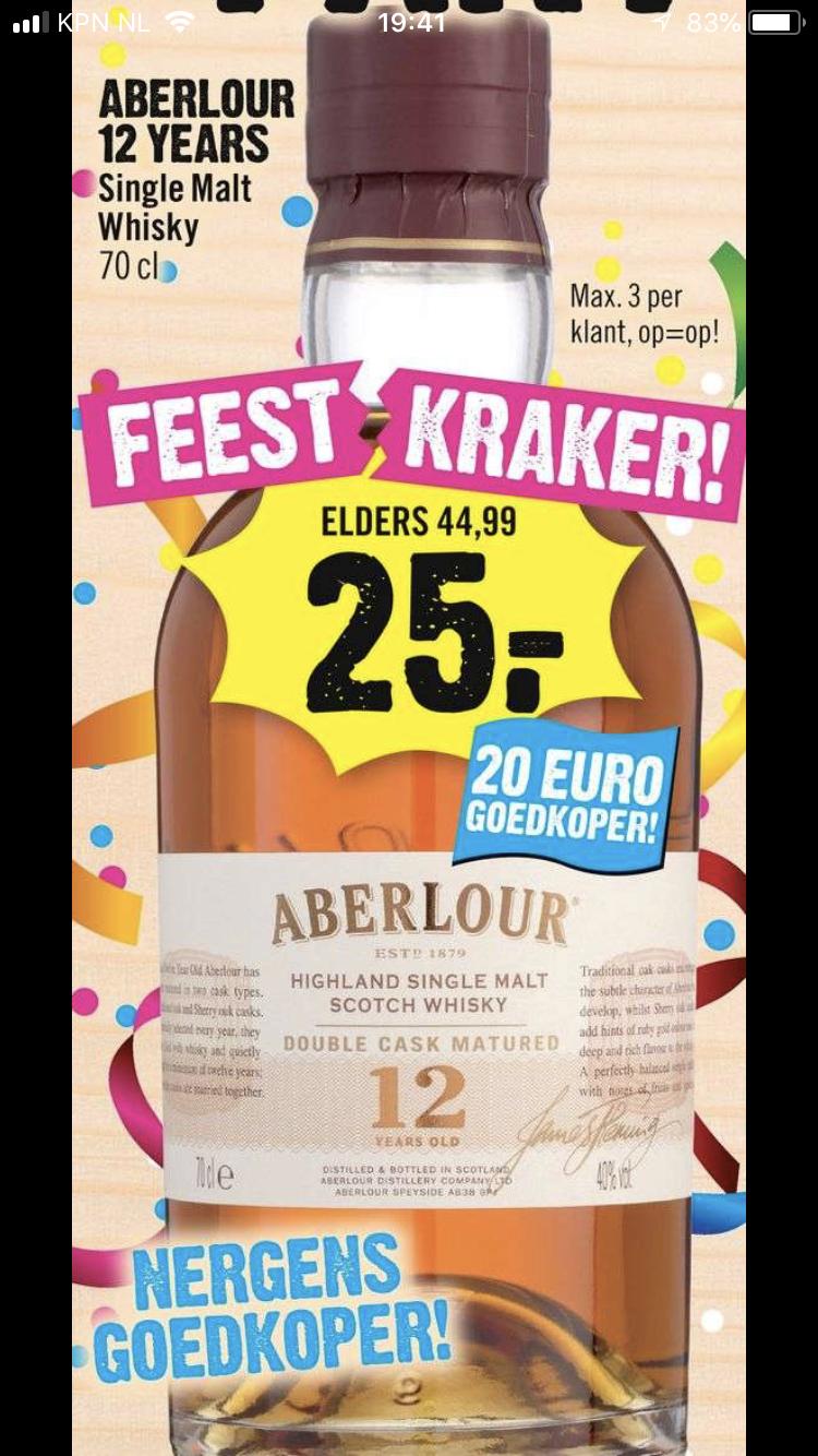 Aberlour 12 Years 70 cl voor € 25,00!
