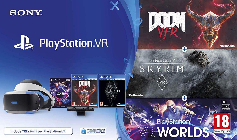 PS4 VR v2 + Camera v2 + VR Worlds + Resident Evil 7 OF Doom VFR & Skyrim VR