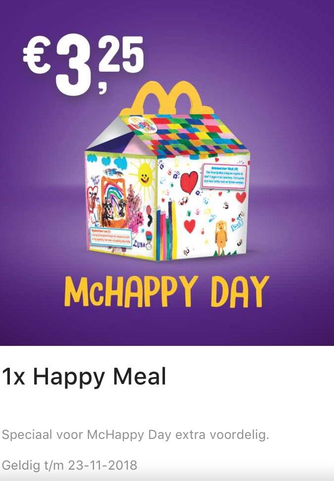 McHappyday - Happy Meal €3,25