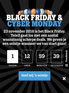 Tele2 black friday & cyber monday aanbieding