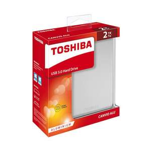 Toshiba Canvio Alu 2TB Zilver Externe HDD voor €59,95 @ Expert