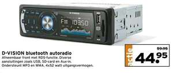 D-vision bluetooth autoradio voor €44,95 @ GAMMA