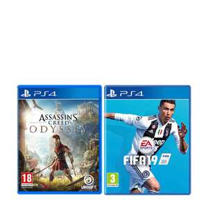 FIFA 19 + Assassin's Creed: Odyssey (PS4) voor €59,99 @ Wehkamp