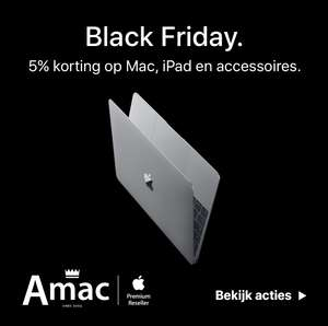 Amac Black Friday/Cyber Monday aanbiedingen