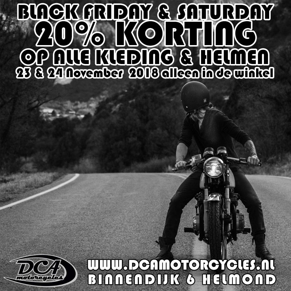 20% Korting op alle motorkleding en helmen Black Friday