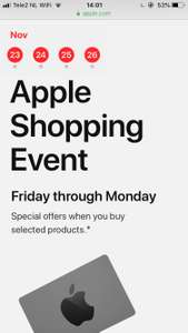 Apple shopping event.