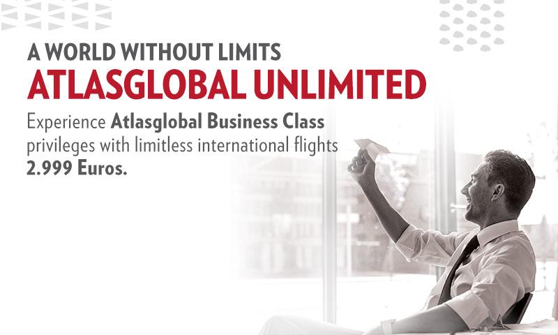 Tot april onbeperkt businessclass vliegen met Atlasglobal