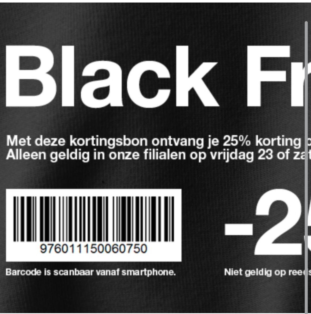 Black Friday - 25% korting op 1 artikel naar keuze @ Zeeman