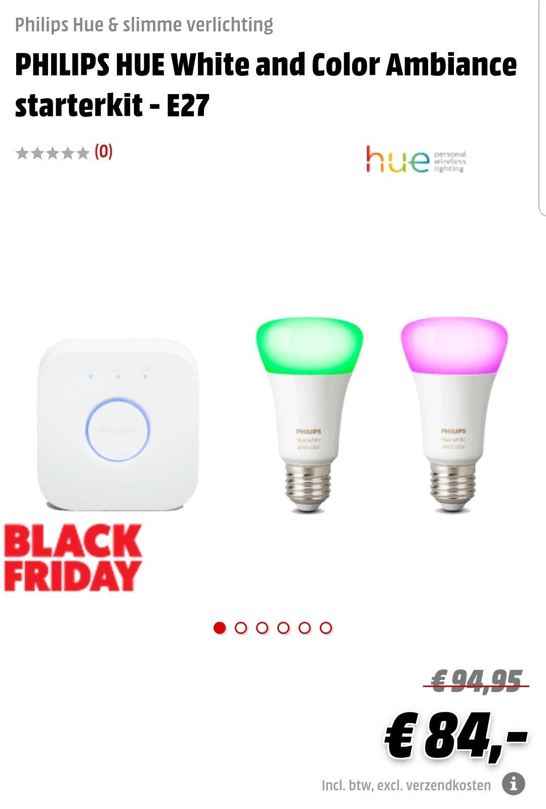Philips Hue starter kit met 2 color lampen