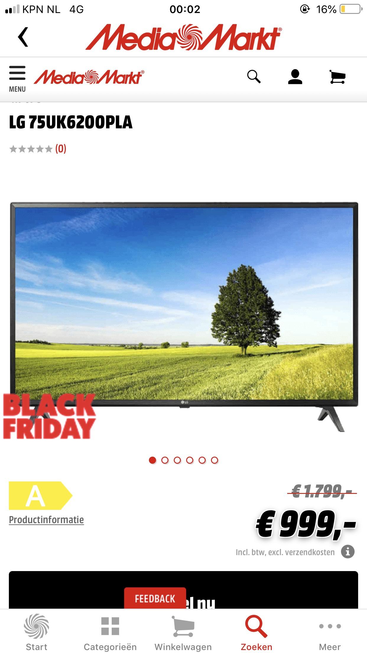 """75"""" 4K UHD LG TV"""