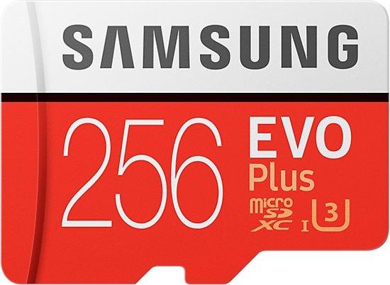 Samsung Evo 256 GB microSD zeer scherp geprijsd!