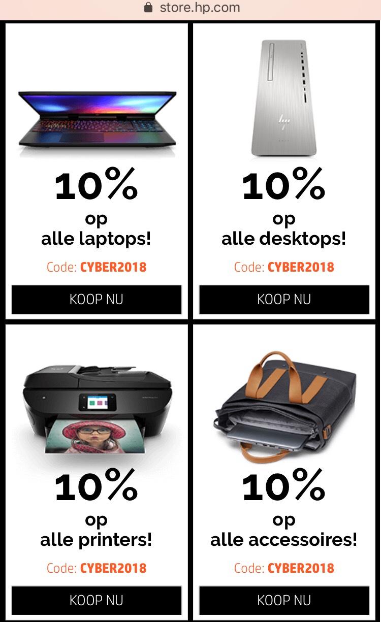 10% korting op alle hp producten