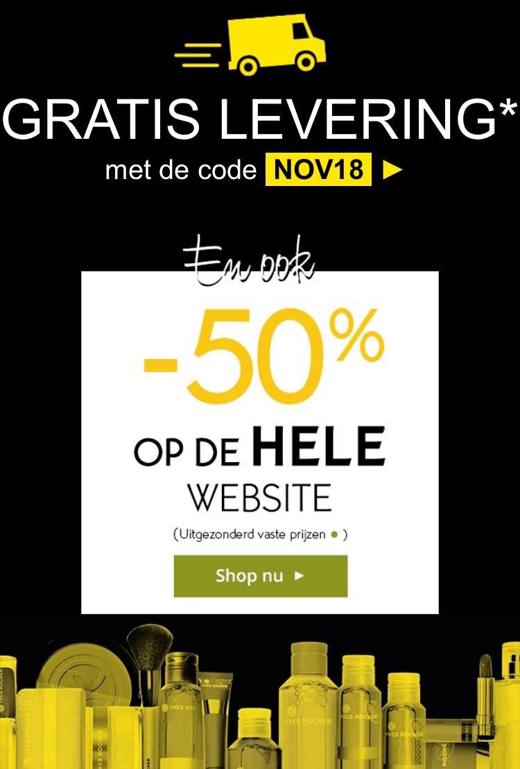Yves Rocher gratis levering 50% korting