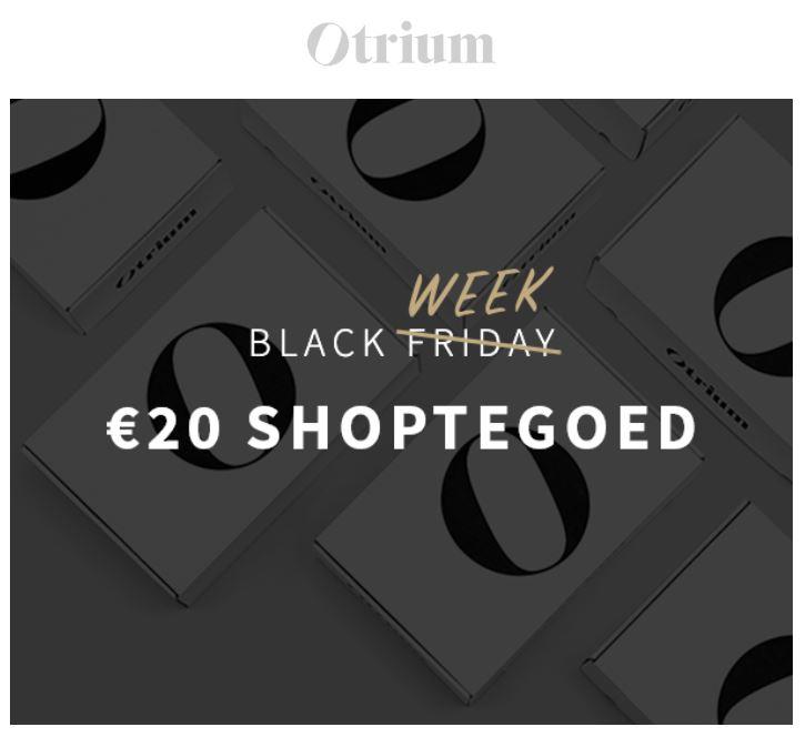 Met code €20 extra korting (va €75) @ Otrium