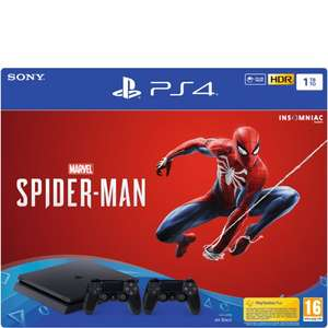 Sony PlayStation 4 Slim Console 1TB + Spider-Man + 2 Controllers voor €269,99 @ Foregames