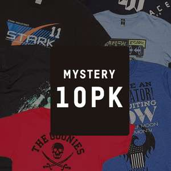 Mystery Geeky T-Shirts - 10-Pack - €23,- @  Zavvi