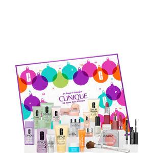 Clinique 24 days adventskalender + gratis CLINIQUE setje met 4 luxe miniaturen 4 ST